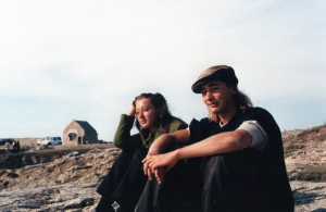 Richard with his sister after a season on the coast of Belle-Isle-En-Mer.96/97