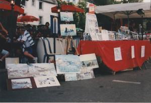 Mon étalage de peintures. 1997